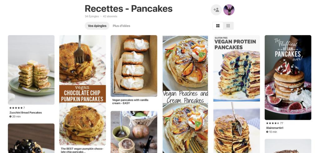 Tableau pinterest pancakes